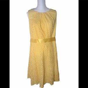 CB Established 1962 Yellow Sleeveless Dress